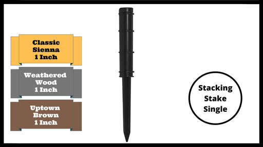 "Stacking Stake – 1"" Replacement (Single-Black) Parts Frame It All"