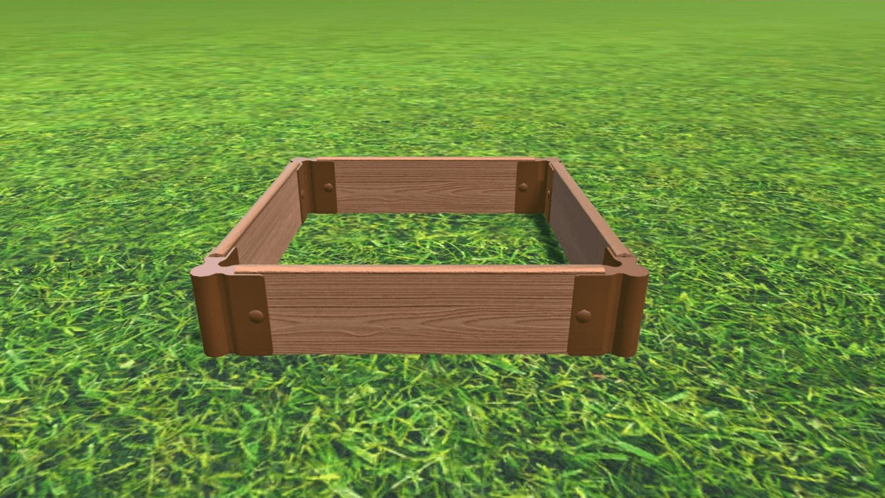 "Tool-Free 2' x 2' Raised Garden Bed Raised Bed Planters Frame It All Classic Sienna 1"" 1 = 5.5"""
