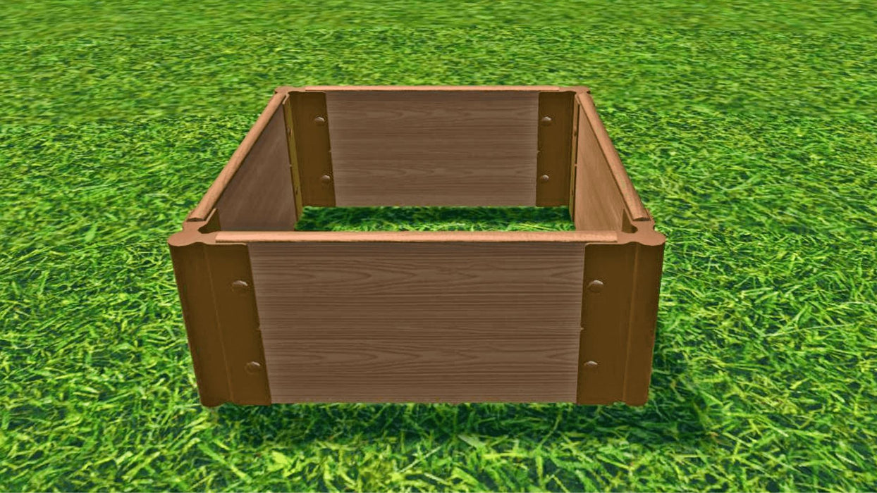 "Tool-Free 2' x 2' Raised Garden Bed Raised Bed Planters Frame It All Classic Sienna 1"" 2 = 11"""