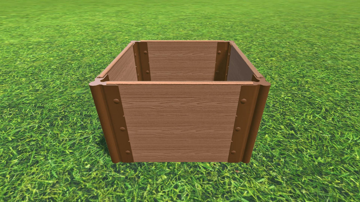 "Tool-Free 2' x 2' Raised Garden Bed Raised Bed Planters Frame It All Classic Sienna 1"" 3 = 16.5"""