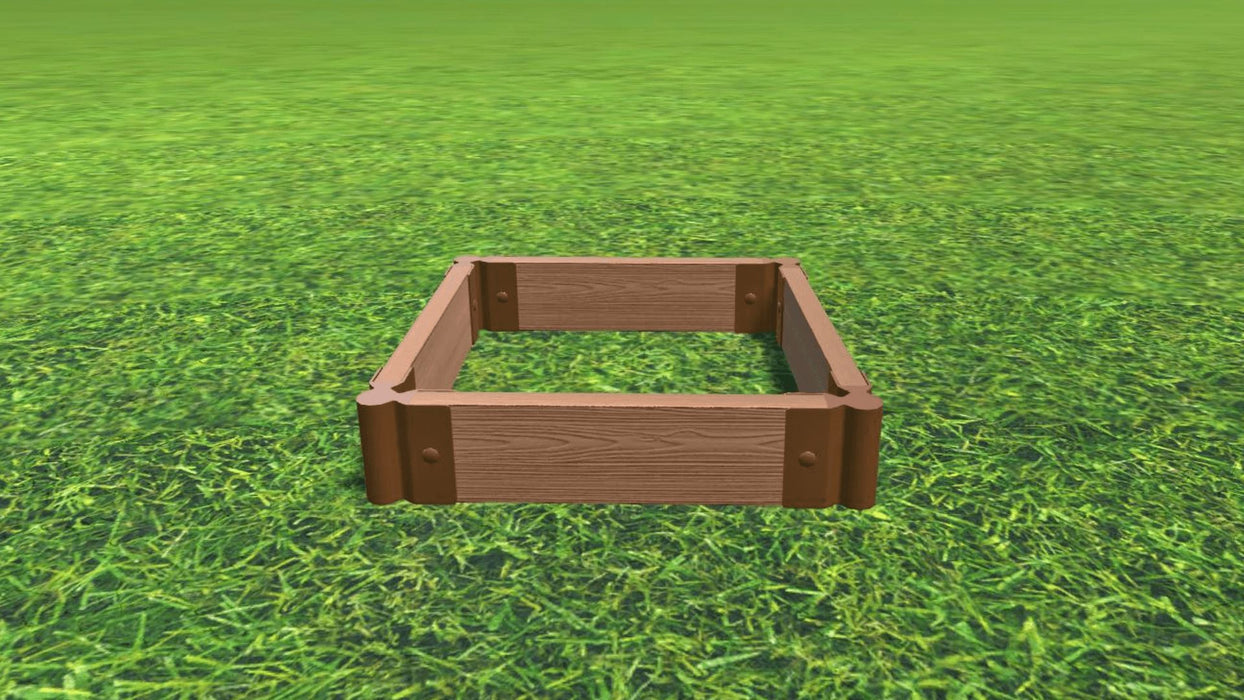 "Tool-Free 2' x 2' Raised Garden Bed Raised Bed Planters Frame It All Classic Sienna 2"" 1 = 5.5"""