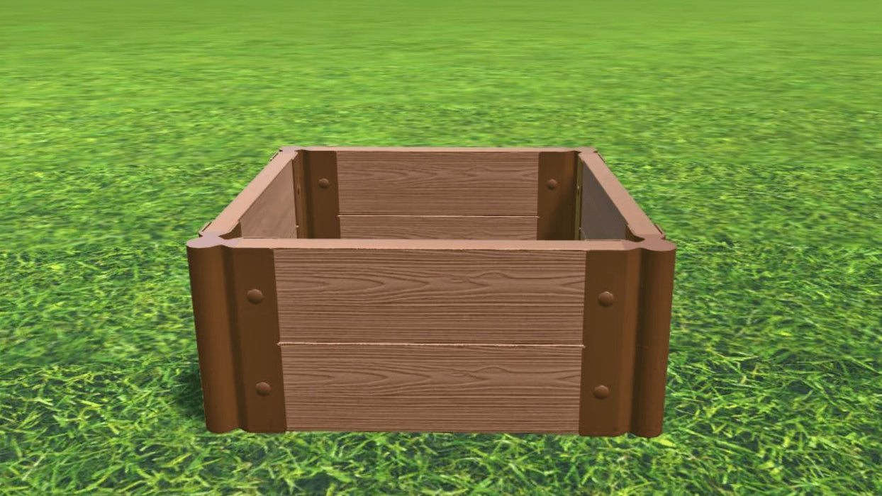 "Tool-Free 2' x 2' Raised Garden Bed Raised Bed Planters Frame It All Classic Sienna 2"" 2 = 11"""