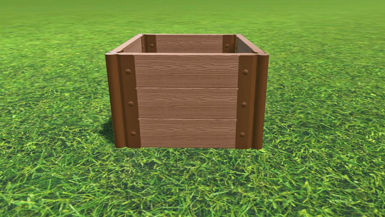 "Tool-Free 2' x 2' Raised Garden Bed Raised Bed Planters Frame It All Classic Sienna 2"" 3 = 16.5"""