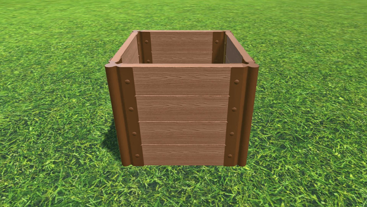 "Tool-Free 2' x 2' Raised Garden Bed Raised Bed Planters Frame It All Classic Sienna 2"" 4 = 22"""