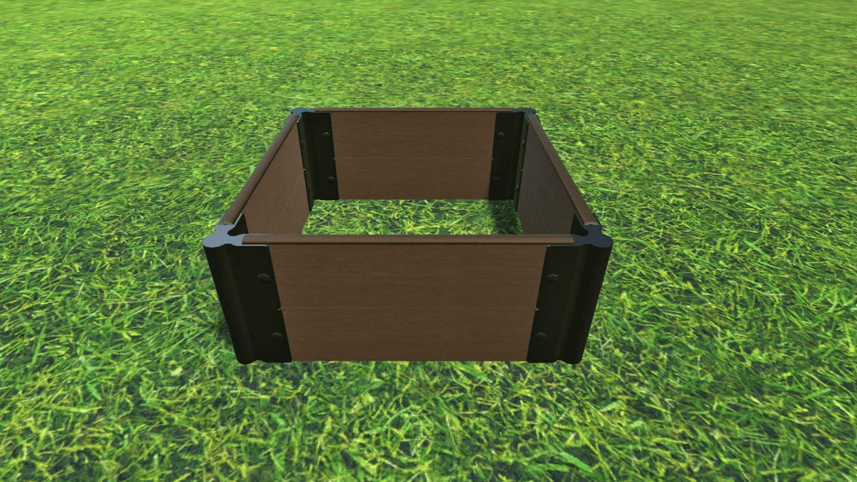 "Tool-Free 2' x 2' Raised Garden Bed Raised Bed Planters Frame It All Uptown Brown 1"" 2 = 11"""
