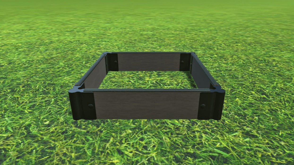 "Tool-Free 2' x 2' Raised Garden Bed Raised Bed Planters Frame It All Weathered Wood 1"" 1 = 5.5"""