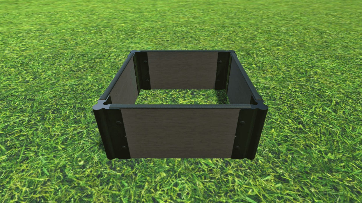 "Tool-Free 2' x 2' Raised Garden Bed Raised Bed Planters Frame It All Weathered Wood 1"" 2 = 11"""