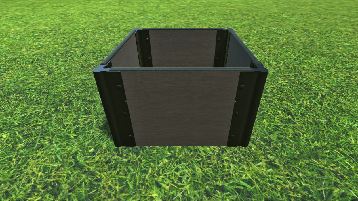 "Tool-Free 2' x 2' Raised Garden Bed Raised Bed Planters Frame It All Weathered Wood 1"" 3 = 16.5"""