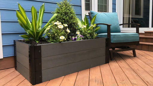 Tool-Free 2' x 4' Raised Garden Bed Raised Bed Planters Frame It All Weathered Wood 1'' 3 = 16.5""