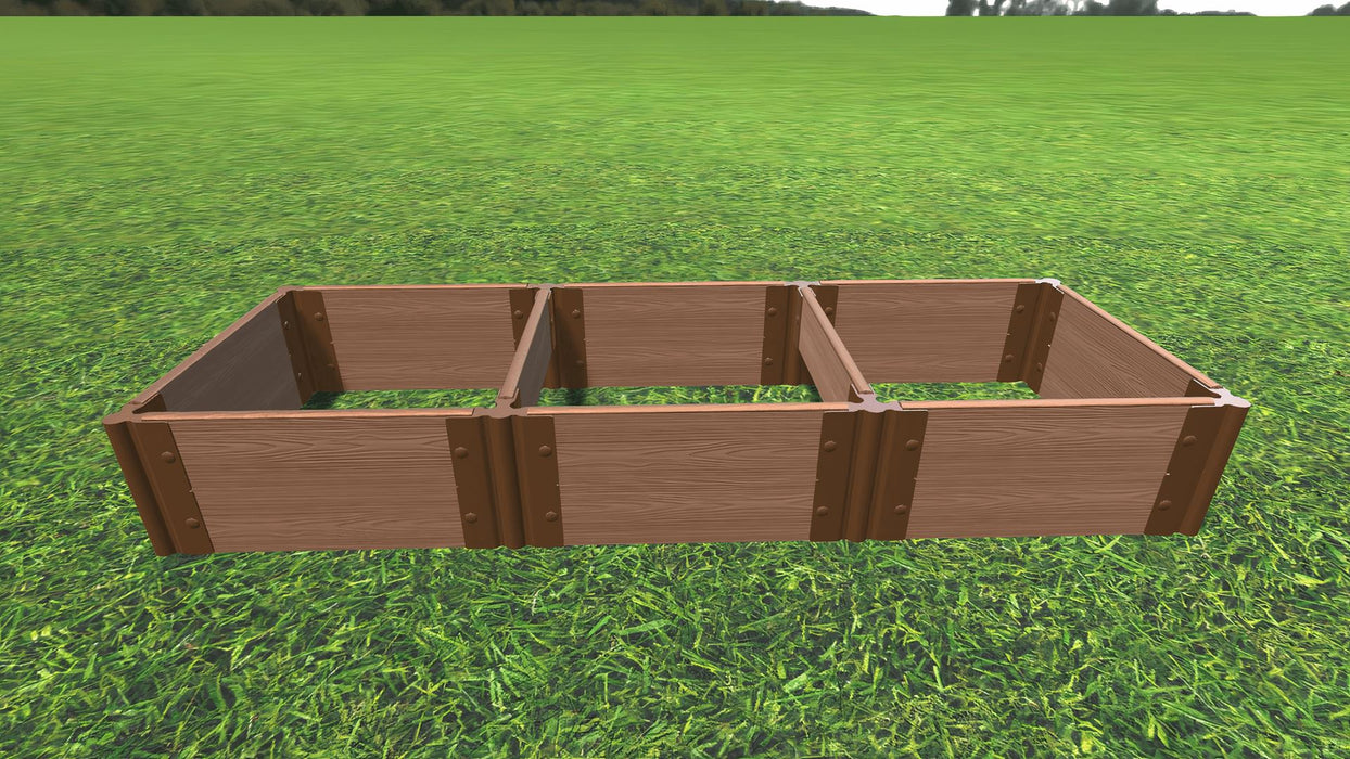 Tool-Free 2' x 6' Raised Garden Bed Raised Bed Planters Frame It All Classic Sienna 1'' 2 = 11""