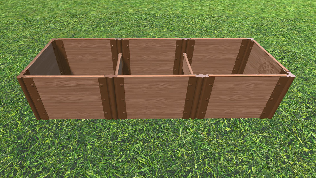 Tool-Free 2' x 6' Raised Garden Bed Raised Bed Planters Frame It All Classic Sienna 1'' 3 = 16.5""