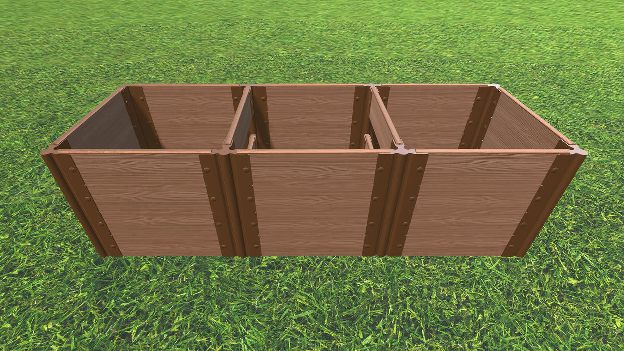 Tool-Free 2' x 6' Raised Garden Bed Raised Bed Planters Frame It All Classic Sienna 1'' 4 = 22""