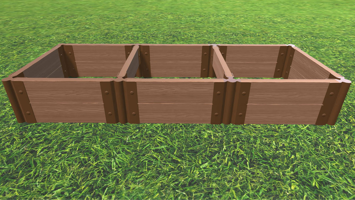 "Tool-Free 2' x 6' Raised Garden Bed Raised Bed Planters Frame It All Classic Sienna 2"" 2 = 11"""