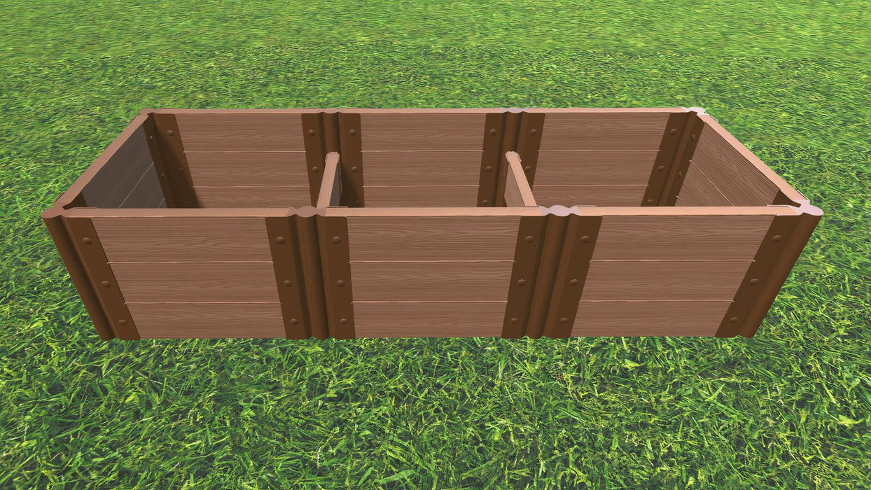 "Tool-Free 2' x 6' Raised Garden Bed Raised Bed Planters Frame It All Classic Sienna 2"" 3 = 16.5"""