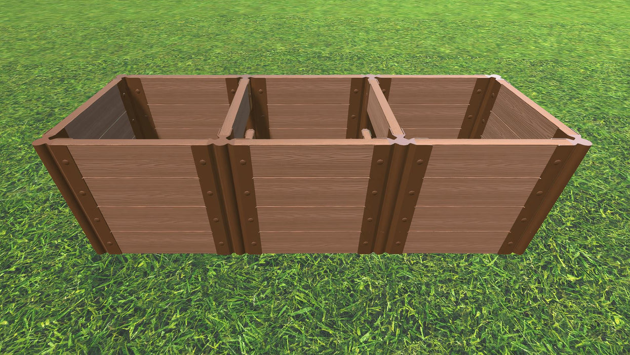 "Tool-Free 2' x 6' Raised Garden Bed Raised Bed Planters Frame It All Classic Sienna 2"" 4 = 22"""
