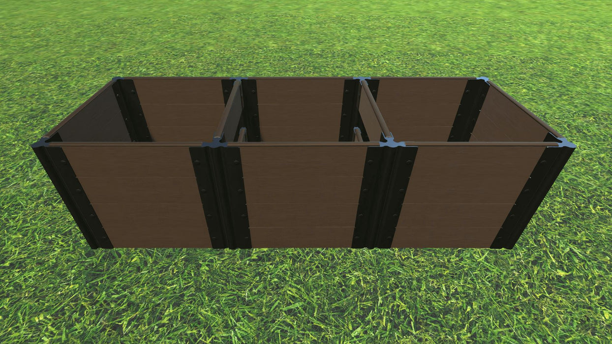 Tool-Free 2' x 6' Raised Garden Bed Raised Bed Planters Frame It All Uptown Brown 1'' 4 = 22""