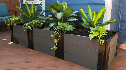 Tool-Free 2' x 6' Raised Garden Bed Raised Bed Planters Frame It All Weathered Wood 1'' 3 = 16.5""