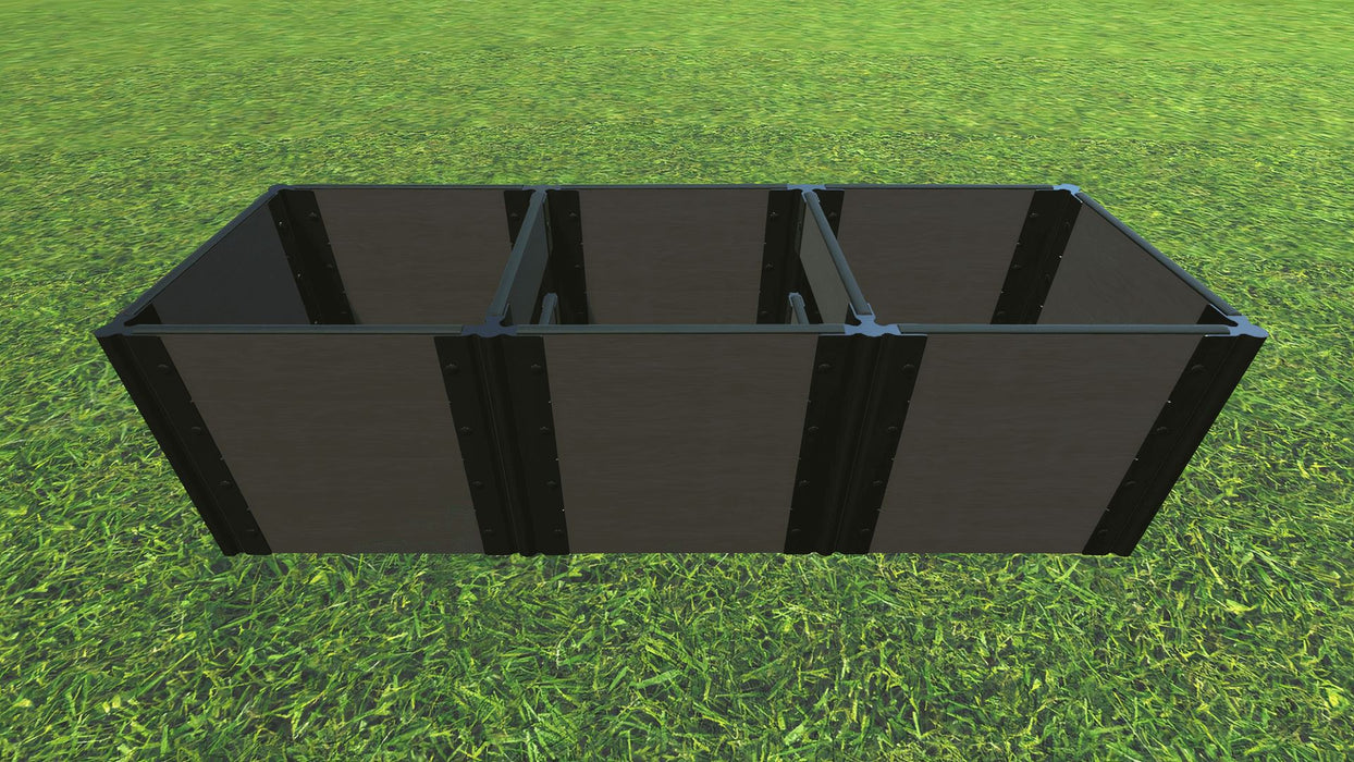 Tool-Free 2' x 6' Raised Garden Bed Raised Bed Planters Frame It All Weathered Wood 1'' 4 = 22""