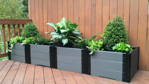 Tool-Free 2' x 8' Raised Garden Bed (2' Sections) Raised Bed Planters Frame It All Weathered Wood 1'' 3 = 16.5""