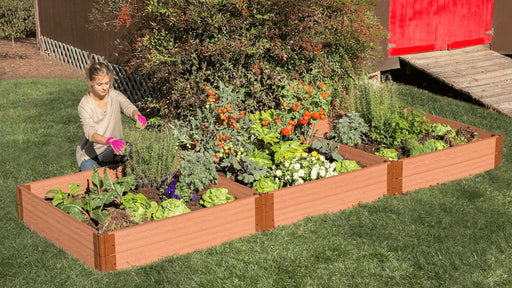 "Tool-Free 4' x 12' Raised Garden Bed Raised Garden Beds Frame It All Classic Sienna 1"" 2 = 11"""