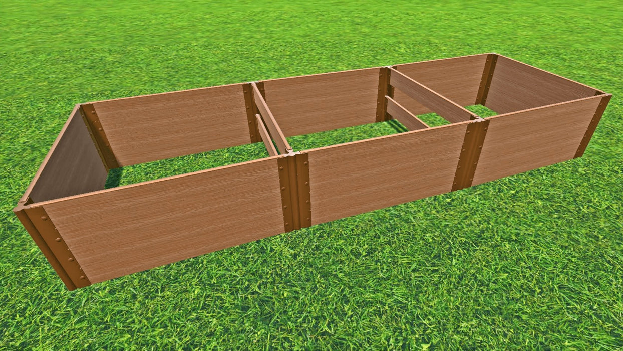 "Tool-Free 4' x 12' Raised Garden Bed Raised Garden Beds Frame It All Classic Sienna 1"" 4 = 22"""