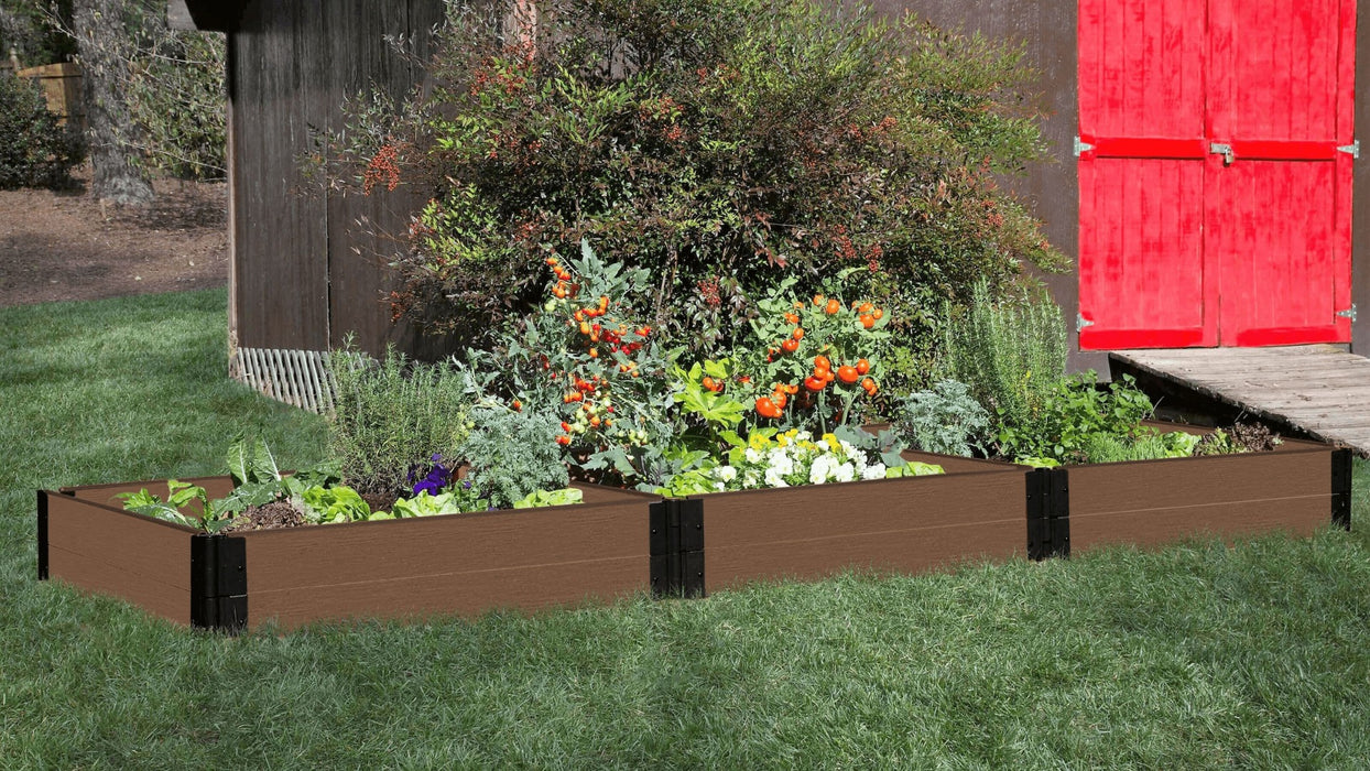 "Tool-Free 4' x 12' Raised Garden Bed Raised Garden Beds Frame It All Uptown Brown 1"" 2 = 11"""