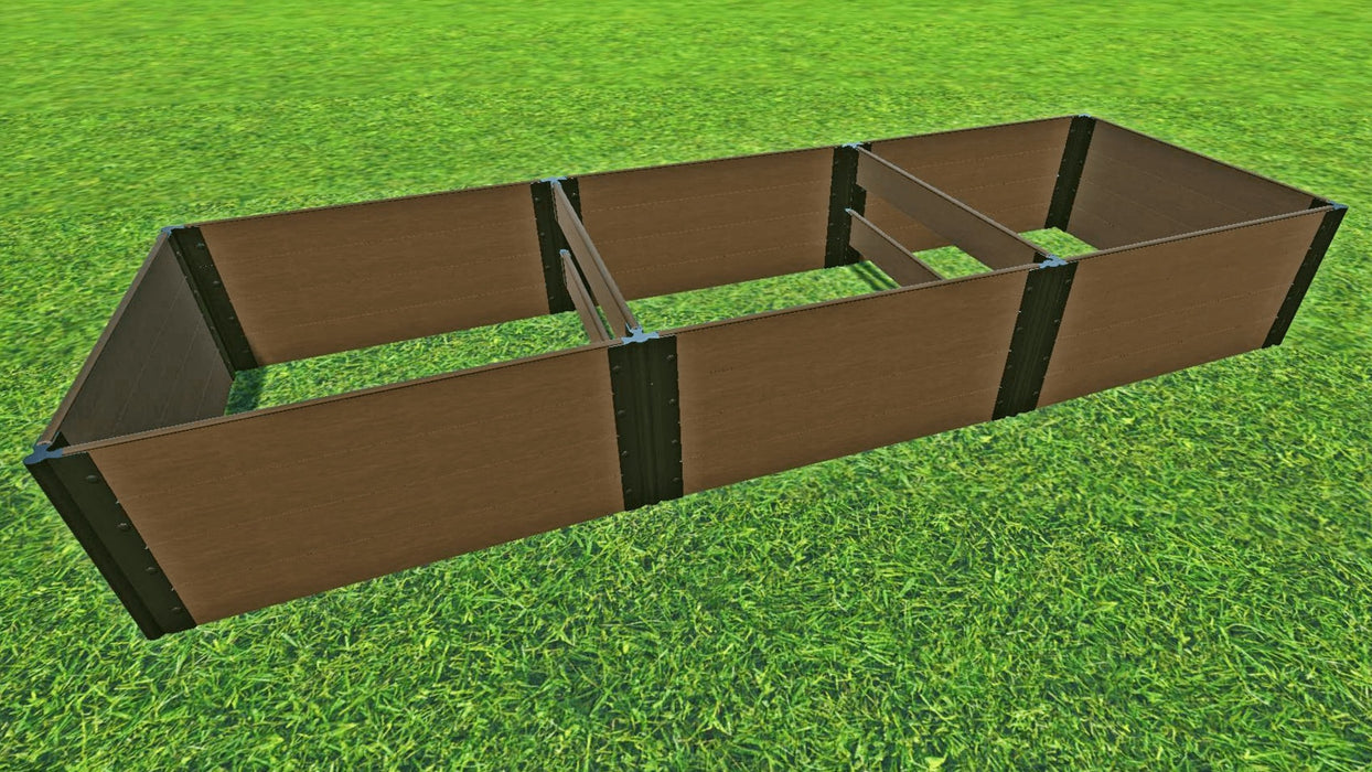 "Tool-Free 4' x 12' Raised Garden Bed Raised Garden Beds Frame It All Uptown Brown 1"" 4 = 22"""