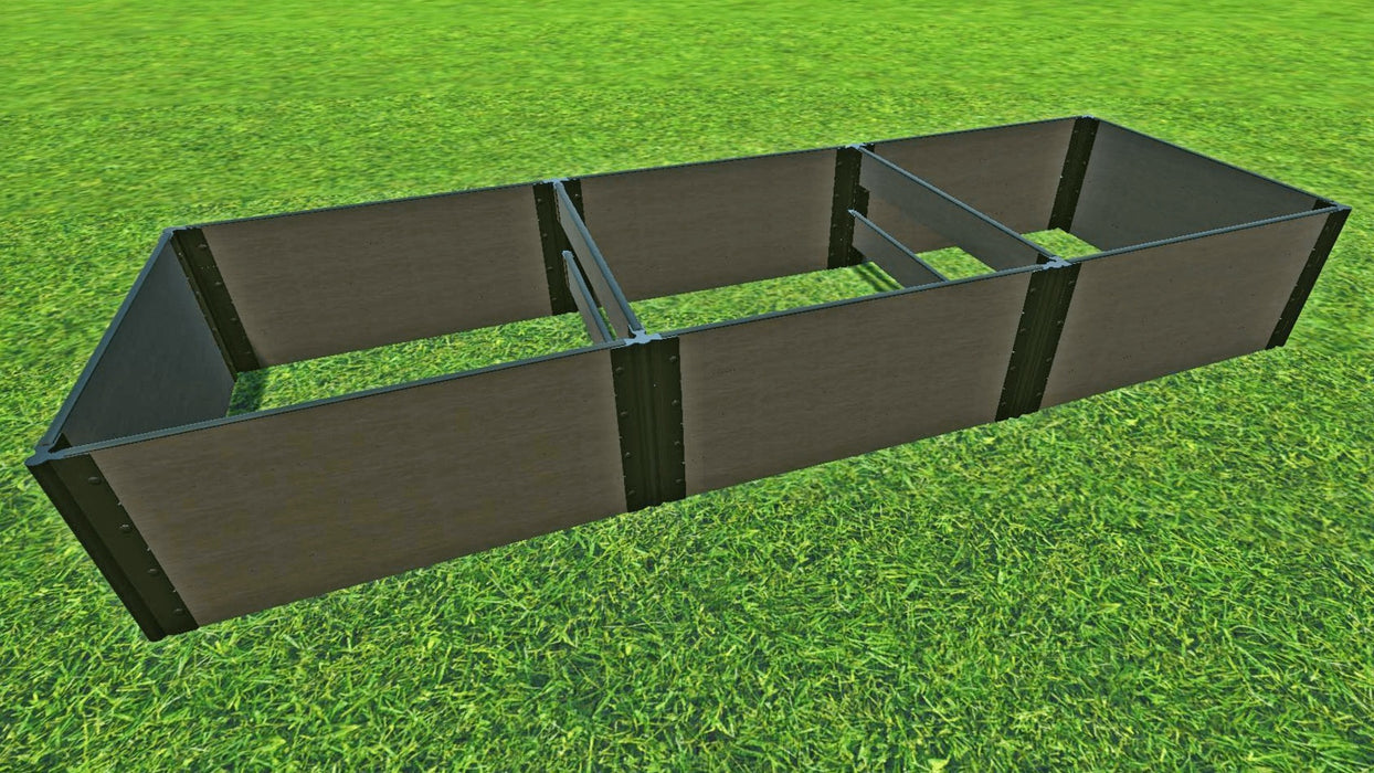 "Tool-Free 4' x 12' Raised Garden Bed Raised Garden Beds Frame It All Weathered Wood 1"" 4 = 22"""