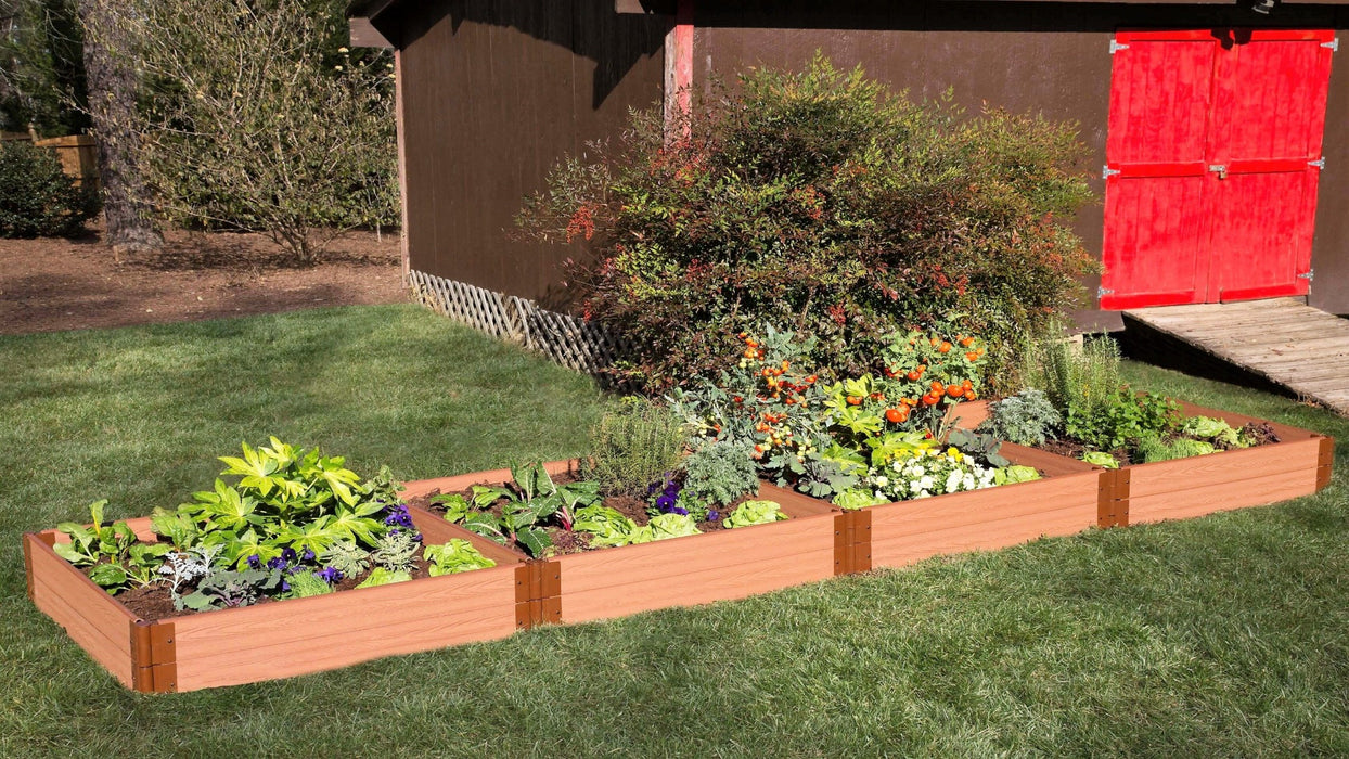 "Tool-Free 4' x 16' Raised Garden Bed Raised Garden Beds Frame It All Classic Sienna 1"" 2 = 11"""