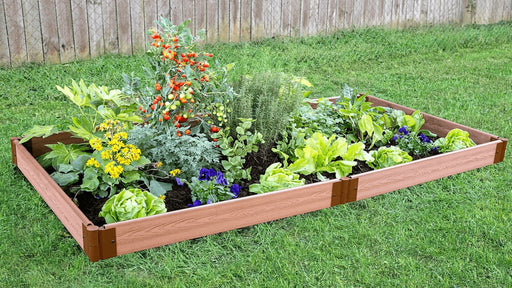 Tool-Free 4' x 8' Raised Garden Bed Raised Garden Beds Frame It All Classic Sienna 1'' 1