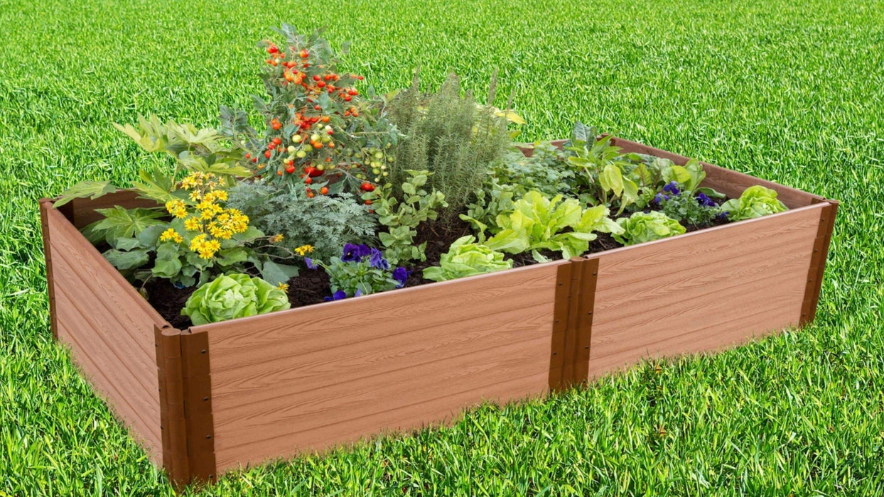 Tool-Free 4' x 8' Raised Garden Bed Raised Garden Beds Frame It All Classic Sienna 1'' 4