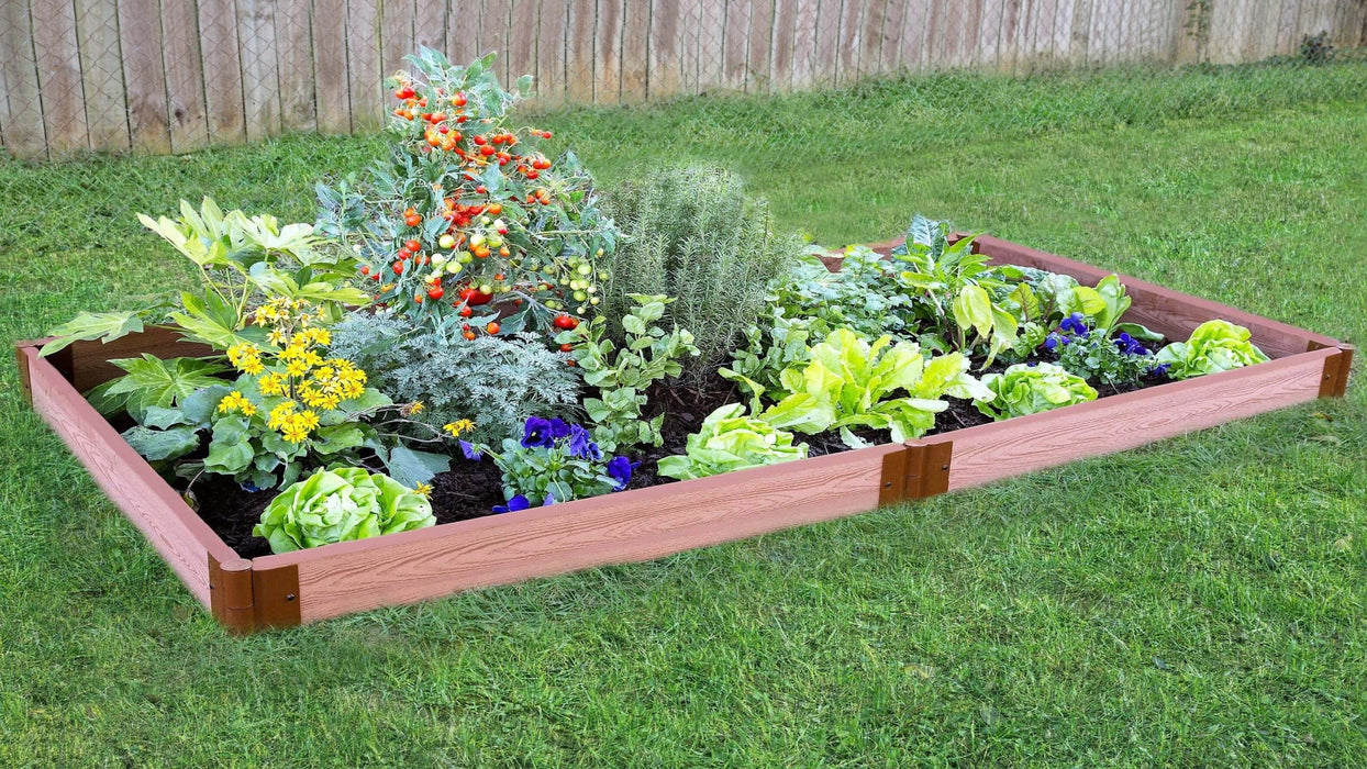 "Tool-Free 4' x 8' Raised Garden Bed Raised Garden Beds Frame It All Classic Sienna 2"" 1"