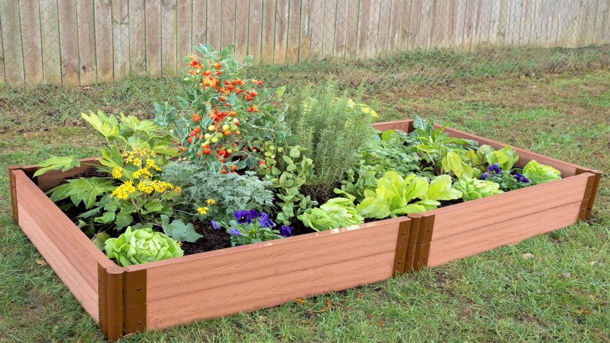 "Tool-Free 4' x 8' Raised Garden Bed Raised Garden Beds Frame It All Classic Sienna 2"" 2"