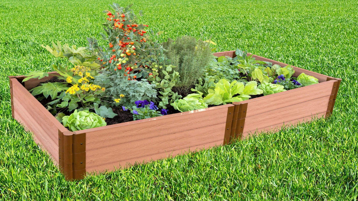 "Tool-Free 4' x 8' Raised Garden Bed Raised Garden Beds Frame It All Classic Sienna 2"" 3"