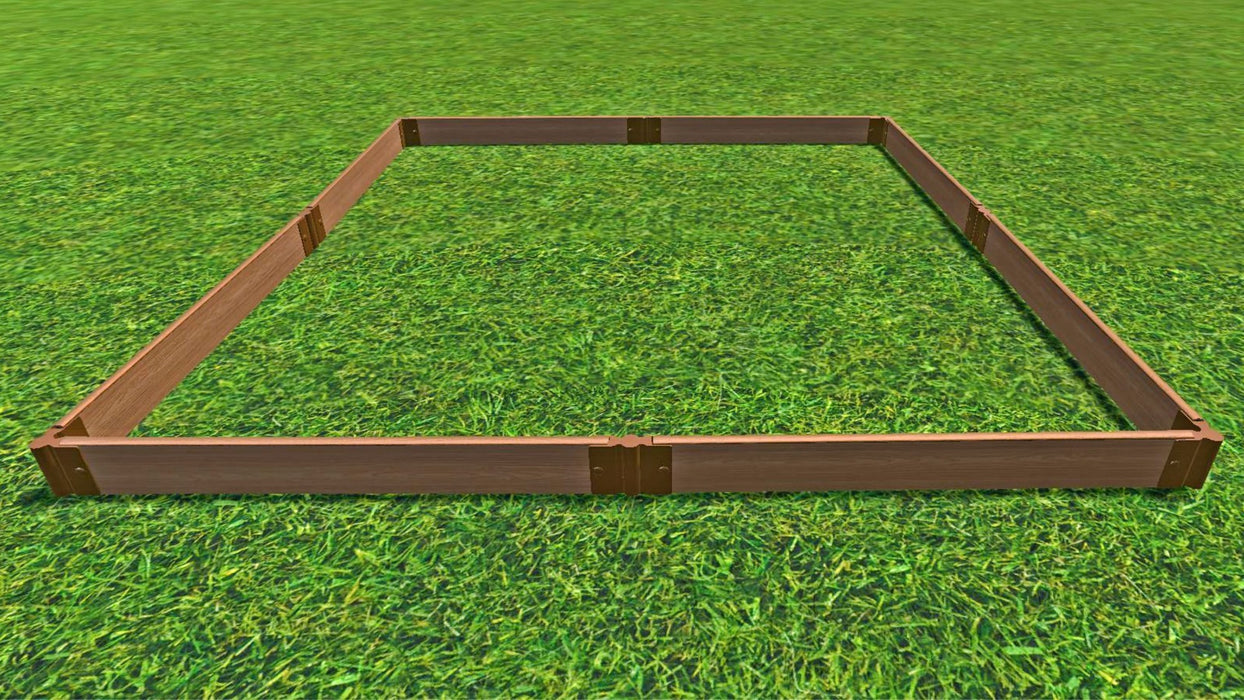 "Tool-Free 8' x 8' Raised Garden Bed Raised Garden Beds Frame It All Classic Sienna 1"" 1"