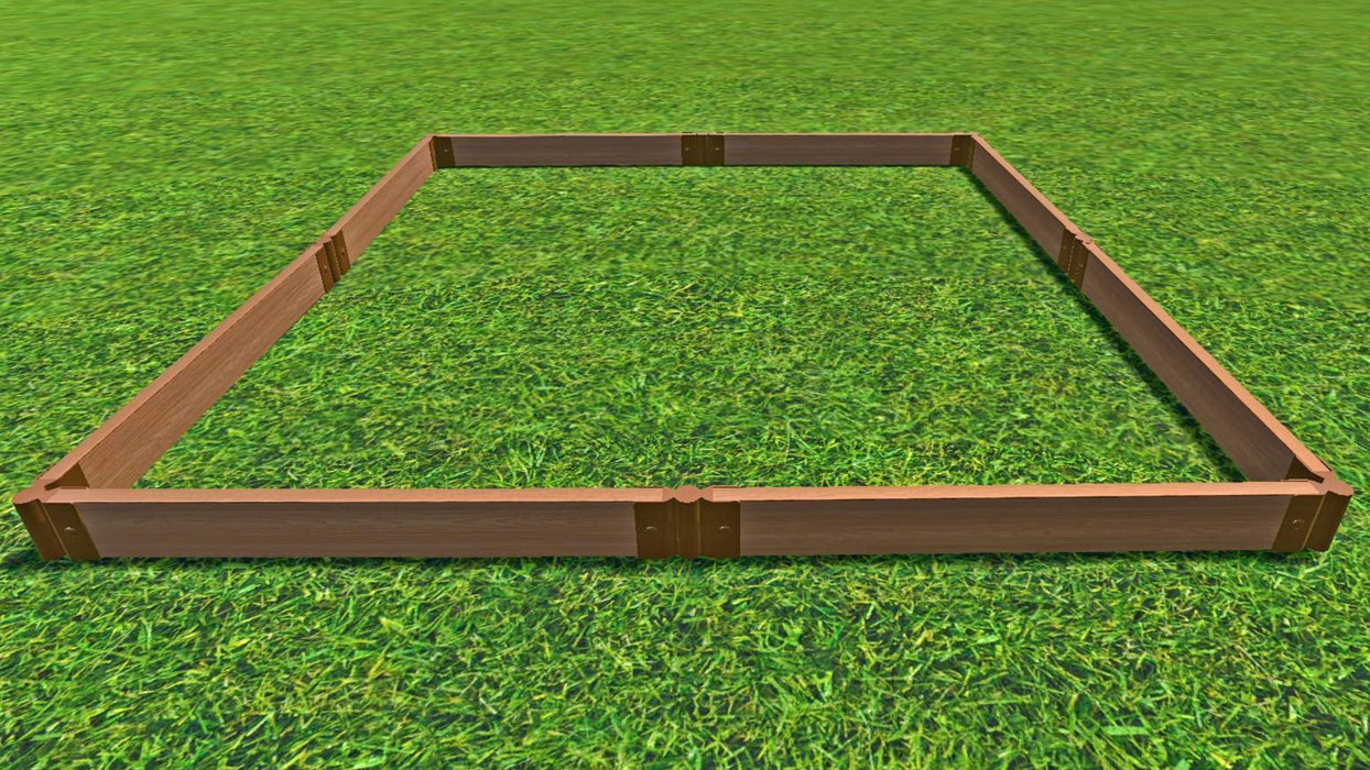 "Tool-Free 8' x 8' Raised Garden Bed Raised Garden Beds Frame It All Classic Sienna 2"" 1"