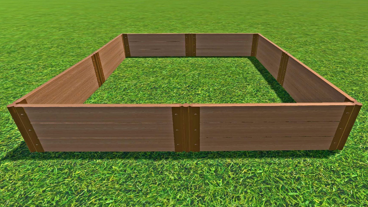 "Tool-Free 8' x 8' Raised Garden Bed Raised Garden Beds Frame It All Classic Sienna 2"" 3"