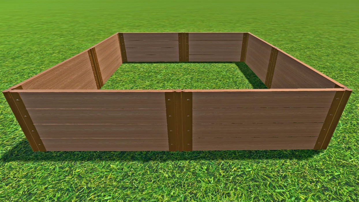 "Tool-Free 8' x 8' Raised Garden Bed Raised Garden Beds Frame It All Classic Sienna 2"" 4"