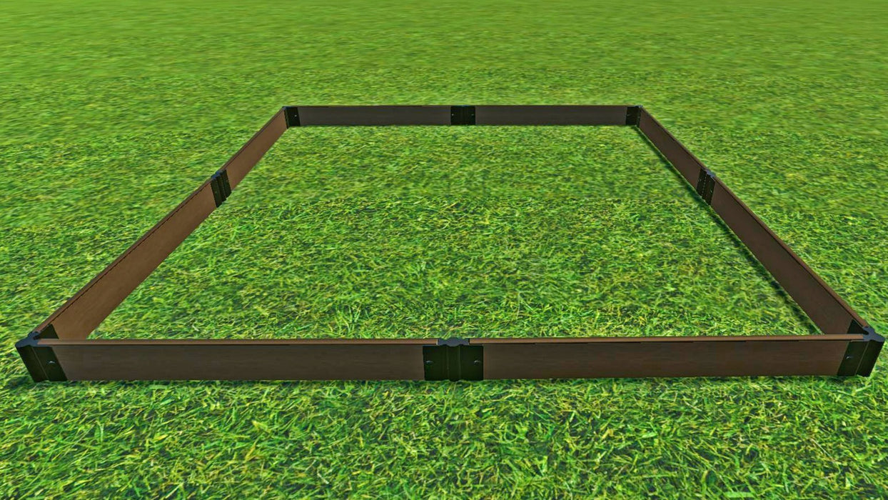 "Tool-Free 8' x 8' Raised Garden Bed Raised Garden Beds Frame It All Uptown Brown 1"" 1"