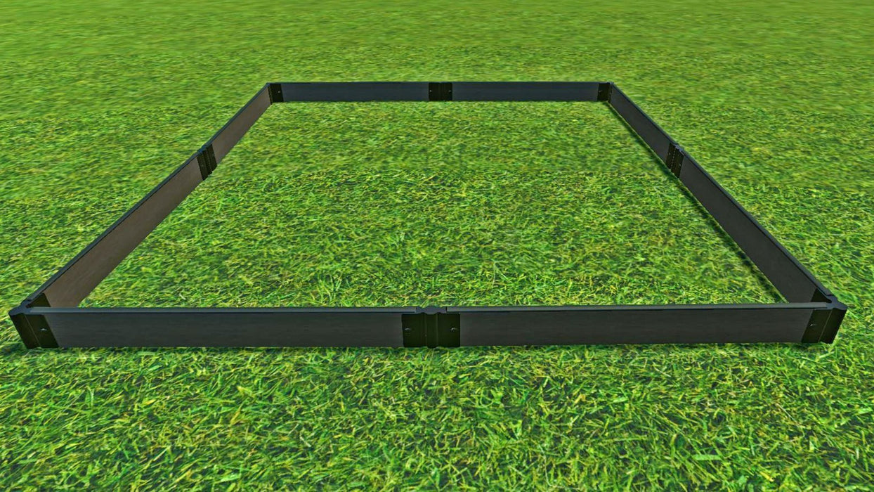 "Tool-Free 8' x 8' Raised Garden Bed Raised Garden Beds Frame It All Weathered Wood 1"" 1"