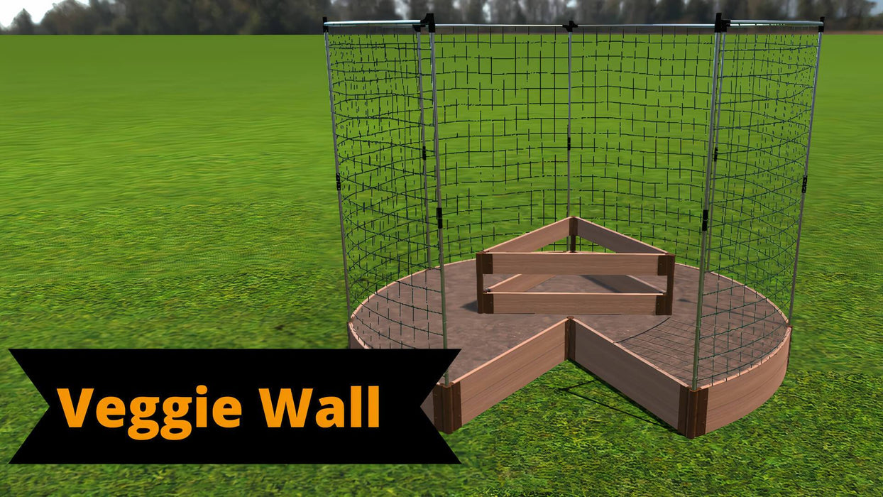 Tool-Free 'Circle Keyhole Garden' - 9' x 9' Raised Bed with Composter Raised Garden Beds Frame It All