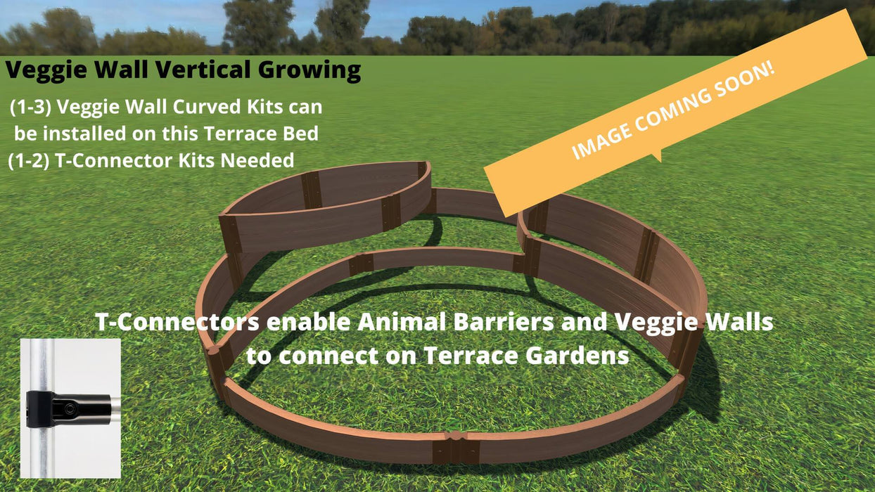 Tool-Free 'Circle Quadruple' - 10' x 10' Terrace Garden Raised Bed (Quad Tier) Raised Garden Beds Frame It All