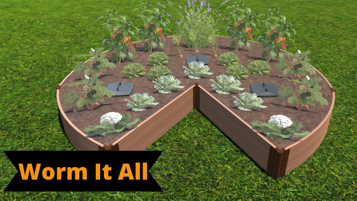 Tool-Free 'Circle Quay' - 9' x 9' Raised Garden Bed Raised Garden Beds Frame It All