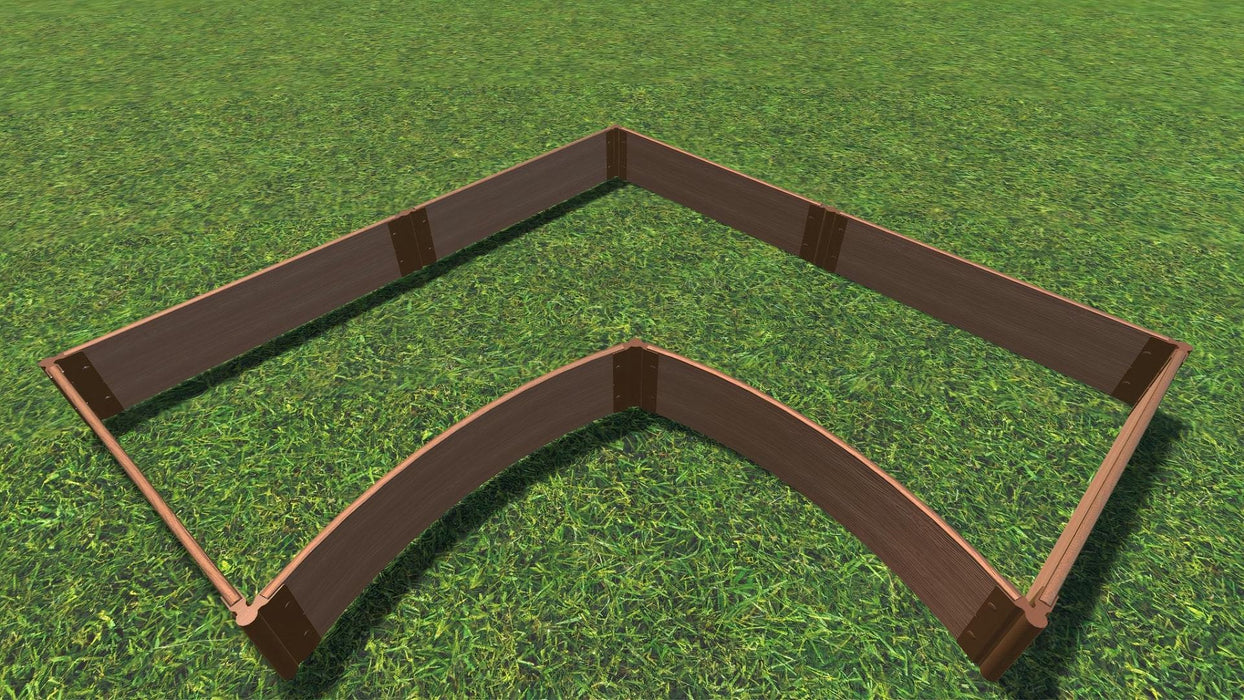 Tool-Free 'Grand Concourse' - 8' x 8' Interior Curved Corner Raised Garden Bed Raised Garden Beds Frame It All Classic Sienna 1' 2 = 11""