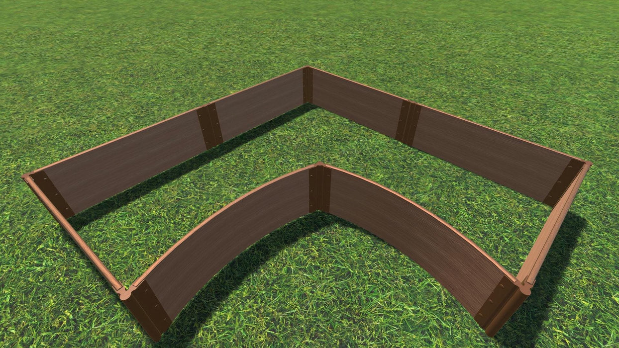 Tool-Free 'Grand Concourse' - 8' x 8' Interior Curved Corner Raised Garden Bed Raised Garden Beds Frame It All Classic Sienna 1' 3 = 16.5""