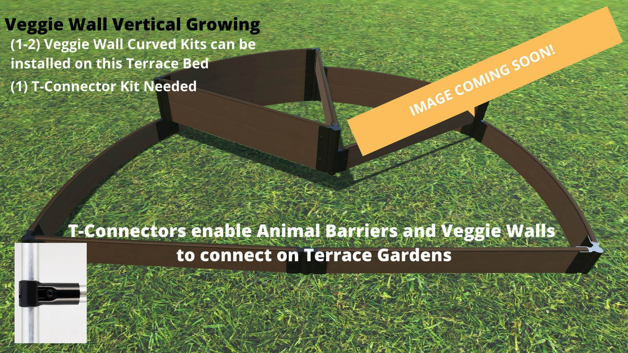Tool-Free 'Nelson's Hat' - 6' x 8' Semi Circle Terrace Garden Raised Bed (Triple Tier) Raised Garden Beds Frame It All