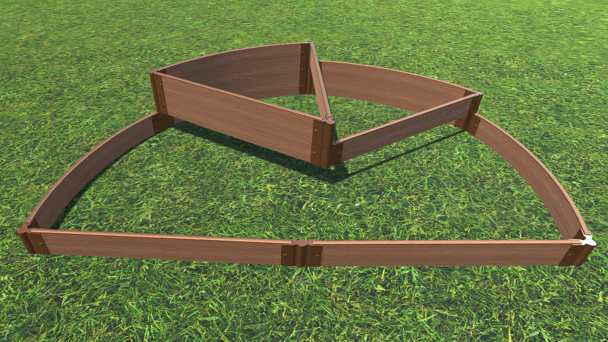 "Tool-Free 'Nelson's Hat' - 6' x 8' Semi Circle Terrace Garden Raised Bed (Triple Tier) Raised Garden Beds Frame It All Classic Sienna 1"" Tri-Level"