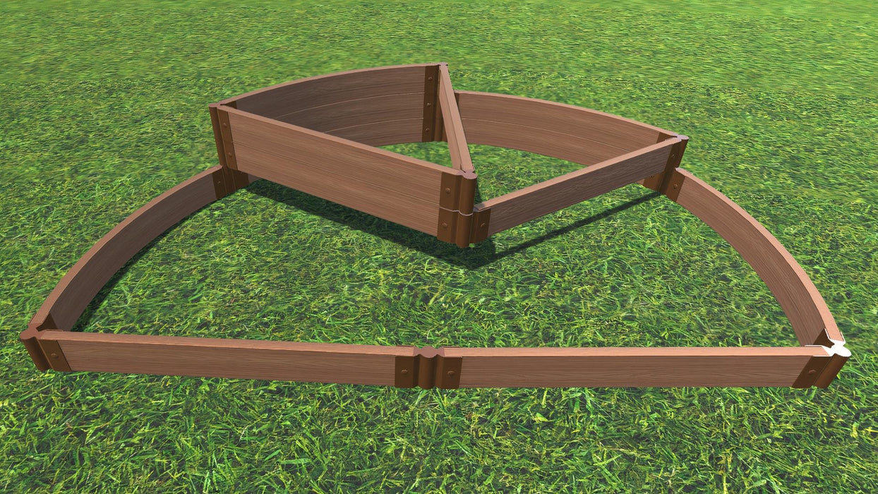 "Tool-Free 'Nelson's Hat' - 6' x 8' Semi Circle Terrace Garden Raised Bed (Triple Tier) Raised Garden Beds Frame It All Classic Sienna 2"" Tri-Level"