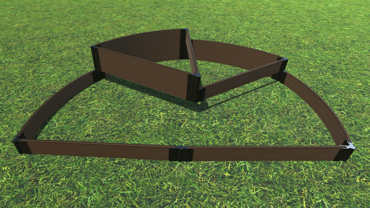 "Tool-Free 'Nelson's Hat' - 6' x 8' Semi Circle Terrace Garden Raised Bed (Triple Tier) Raised Garden Beds Frame It All Uptown Brown 1"" Tri-Level"