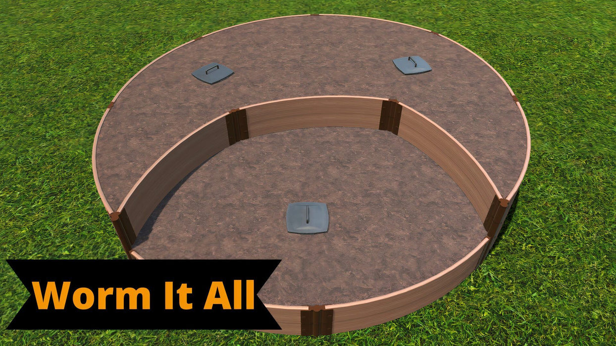 Tool-Free 'Peppermint Cream' - 10' x 10' Circular Terrace Garden Raised Bed (Double Tier) Raised Garden Beds Frame It All